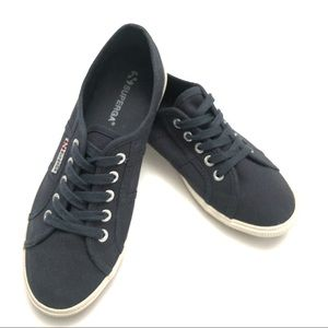 Superga navy blue canvas sneakers